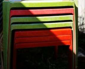 7 mesas usadas de PVC