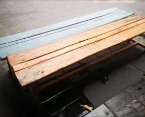 2 bancos de madera