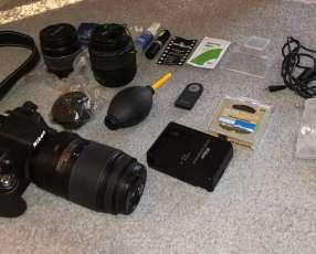 Cámara Nikon D5100 con kit completo profesional