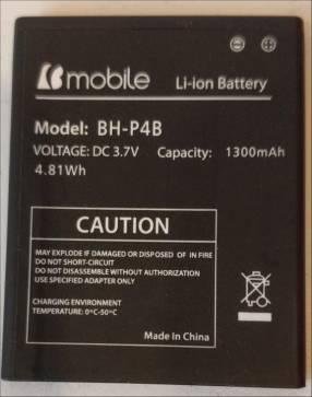 Bateria para bmobile ax610. Cod. Bh-p4b. Original