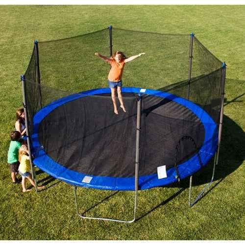 Cama elastica 4.3 mts. Con aro de basquet y pelota - 2