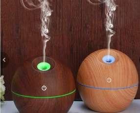 Humidificador y aromatizador (madera -con luces led) 2020