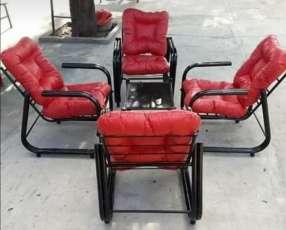 Juego de sillón de metal