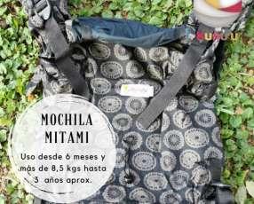 Portabebé mochila ergonómica Mitami estándar estampada