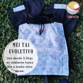 Portabebé Mei Tai evolutivo de nubes celestes