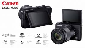 Cámara Canon EOS M200 Kit 15-45mm