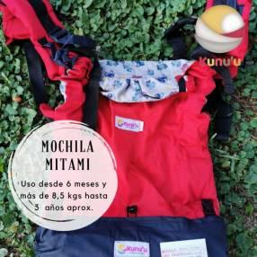 Portabebé mochila ergonómica Mitami estándar roja