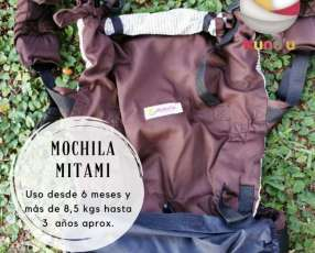 Portabebé mochila ergonómica Mitami estándar marrón