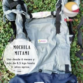 Portabebé mochila ergonómica Mitami estándar gris