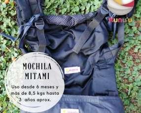 Portabebé mochila ergonómica Mitami estándar con motas
