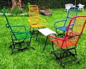 Juego de sillón hamacable 2811