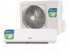 Aire acondicionado Midas 12.000 btu f/c r410 gas ecológico