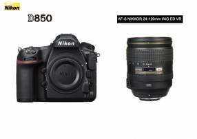 Cámara Nikon D850 + Lente Nikon FX 24-120MM F4G ED VR AF-S