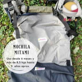 Portabebé mochila ergonómica Mitami estándar cuadrillé