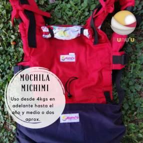 Portabebé mochila ergonómica Michimi roja