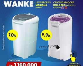 Lavarropas 10 kg y centrifugadora 9.9 kg Wanke