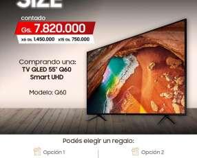 Samsung TV QLED 55 pulgadas Q60 Smart UHD