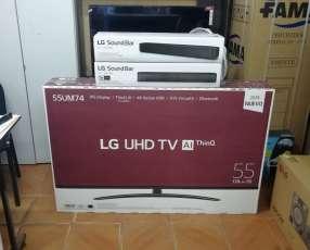 Smart TV LG UHD 55 pulgadas con barra de sonido