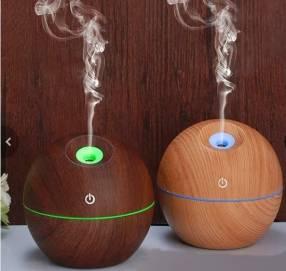 Humidificador y aromatizador madera con luces led