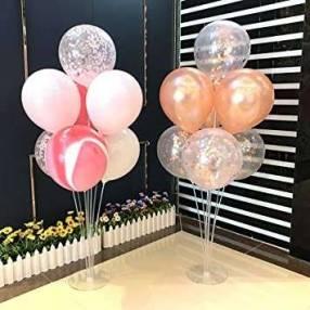 Bouquet de globos con soporte fijo