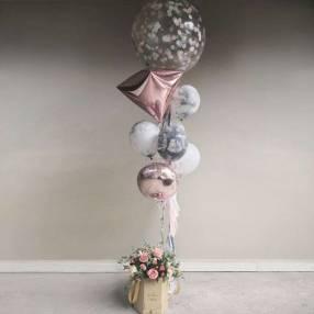 Bouquet de globos con gas helio