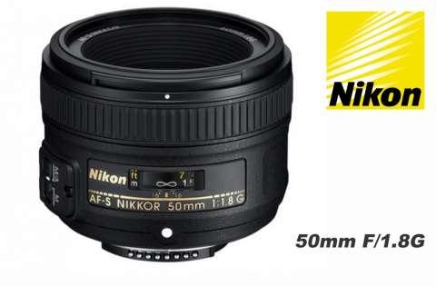 Lente Nikon 50mm. F/1.8G