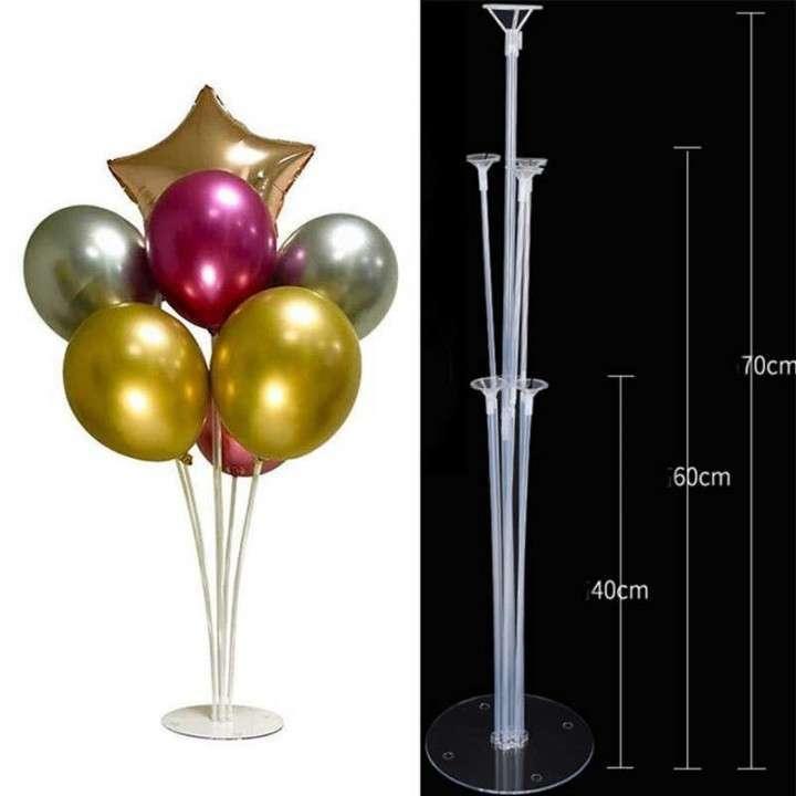 Bouquet de globos cromados con soporte fijo - 0
