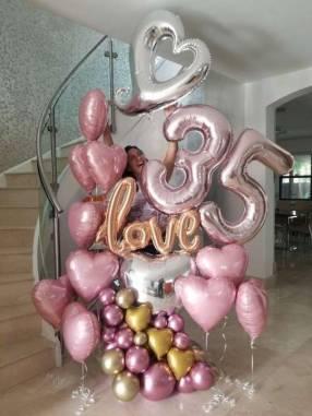 Bouquet de globos con helio
