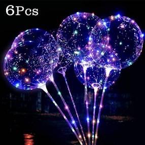 Bouquet de globos con luz led