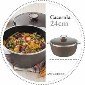 Cacerola Essen línea Terra 24 cm de diámetro