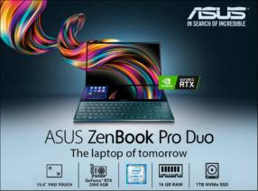 Notebook Asus Zenbook Pro Duo i7