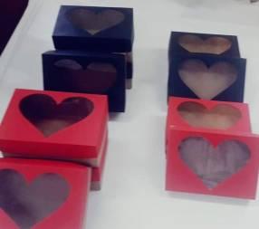 Caja de visor con corazón