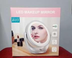 Espejo con luz led para maquillaje