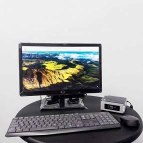 Monitor y PC NUC Intel Celeron