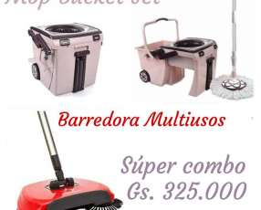 Mop Bucket y barredora multiusos