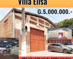 Tinglado en Villa Elisa a 1 cuadra de Defensores