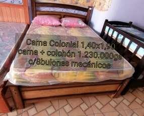Cama Colonial de 1,40x1,90