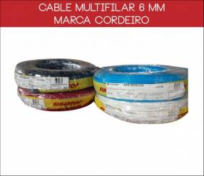 Cable multifilar 6 mm rollo de 100 metros