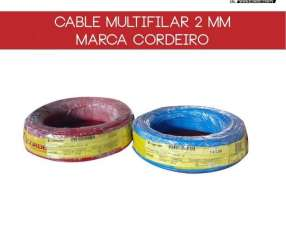 Cable multifilar 2mm rollo 100 metros