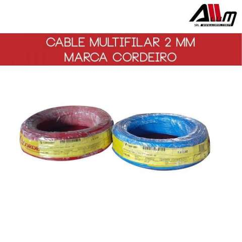 Cable multifilar 2mm rollo 100 metros