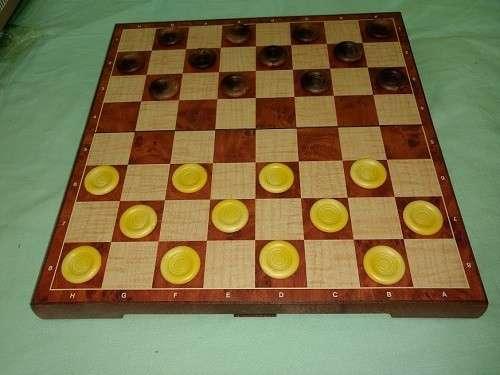Juego de ajedrez y damas magnético de plástico - 2