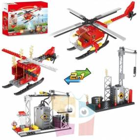 Helicóptero de bomberos juego de construcción Cogo Block 164 piezas