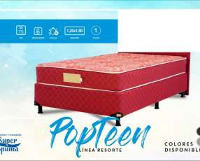 Sommier Super Spuma Pop Teen 120 base + colchón