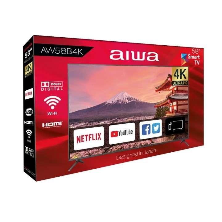 Smart tv led ultra HD 4k Aiwa 58 pulgadas - 1