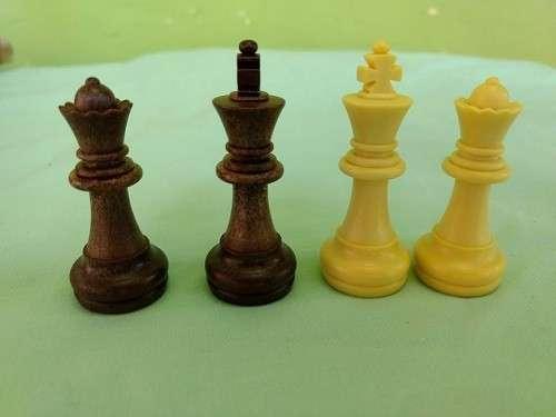 Juego de ajedrez y damas magnético de plástico - 5