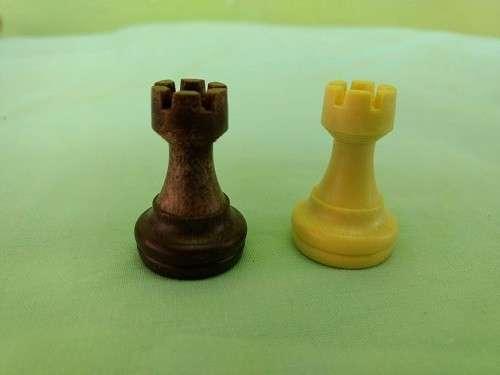 Juego de ajedrez y damas magnético de plástico - 8