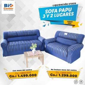Sofa pau 2 y 3 lugares