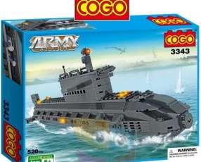 Submarino juego de construcción Cogo Blocks 520 piezas