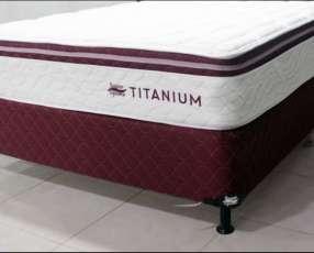 Sommier Super Spuma Titanium 140x190 base y colchón