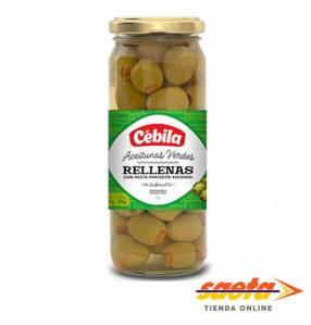 Aceitunas Cébila rellenas frasco de 200 gramos